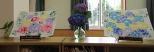 絵本棚紫陽花