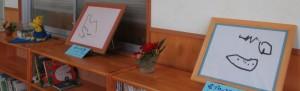 描画飾り 本棚